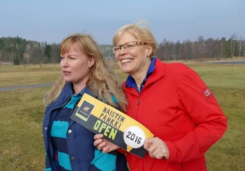Tanja Rivinoja ja Ulla Poutanen
