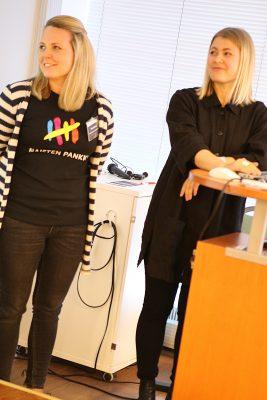 Riikka ja Ada Next Generationista esittelivät toimintaansa.