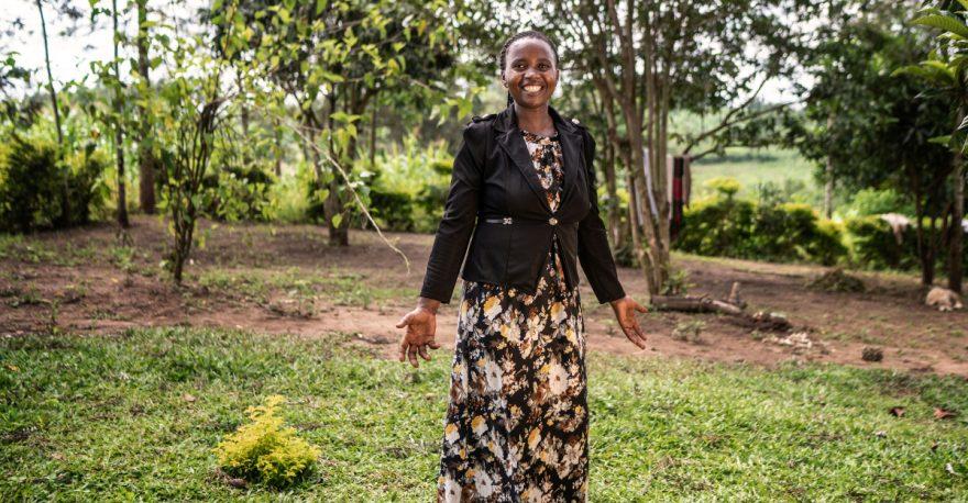Adah Tukahirwa on naisten säästöryhmän puheenjohtaja.