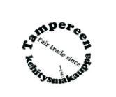 Ympyränmuotoinen logo.